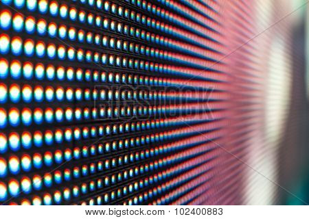 Extreme Macro Of Pink Led Smd Screen