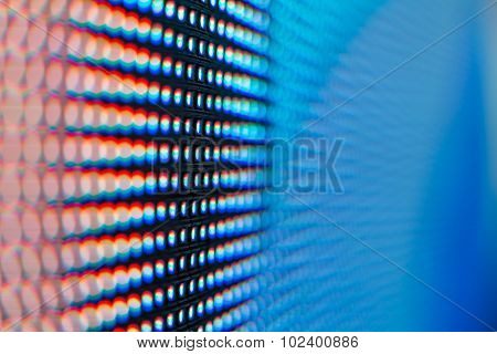 Extreme Macro Of Colored Led Smd Screen