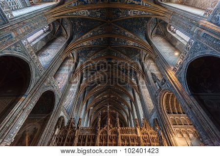 Interior Of Albi Cathedral (cathedral Basilica Of Saint Cecilia), France