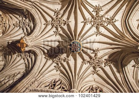 Ceiling Of Albi Cathedral (cathedral Basilica Of Saint Cecilia), France