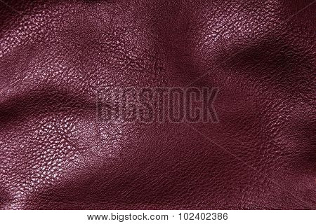red artificial leather