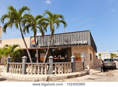 Burger King Restaurant In George Town Of Grand Cayman Island