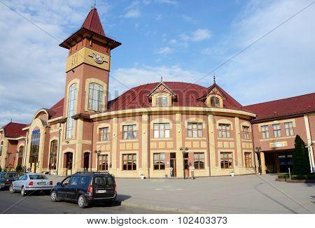 View of railway station in Uzhhorod,Western Ukraine