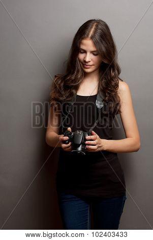 Beautiful Young Photographer.