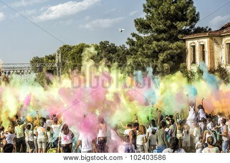 Participants At The 4Th Colors Day In Thessaloniki, Greece