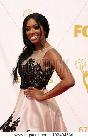 LOS ANGELES - SEP 20:  Porsha Williams at the Primetime Emmy Awards Arrivals at the Microsoft Theater on September 20, 2015 in Los Angeles, CA