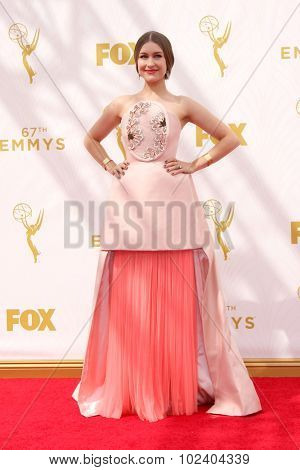 LOS ANGELES - SEP 20:  Joanna Newsom at the Primetime Emmy Awards Arrivals at the Microsoft Theater on September 20, 2015 in Los Angeles, CA