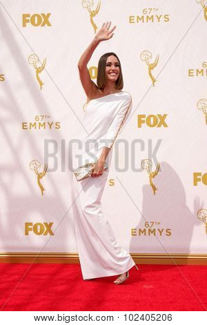 LOS ANGELES - SEP 20:  Louise Roe at the Primetime Emmy Awards Arrivals at the Microsoft Theater on September 20, 2015 in Los Angeles, CA