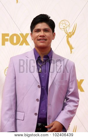 LOS ANGELES - SEP 20:  Johnny Ortiz at the Primetime Emmy Awards Arrivals at the Microsoft Theater on September 20, 2015 in Los Angeles, CA