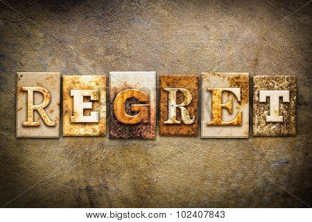 Regret Concept Letterpress Leather Theme
