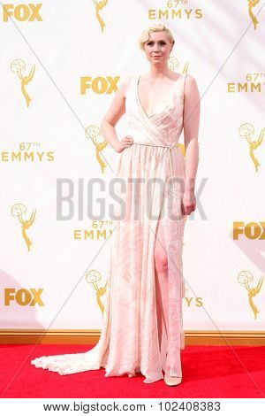LOS ANGELES - SEP 20:  Gwendoline Christie at the Primetime Emmy Awards Arrivals at the Microsoft Theater on September 20, 2015 in Los Angeles, CA