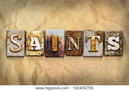 Saints Concept Rusted Metal Type