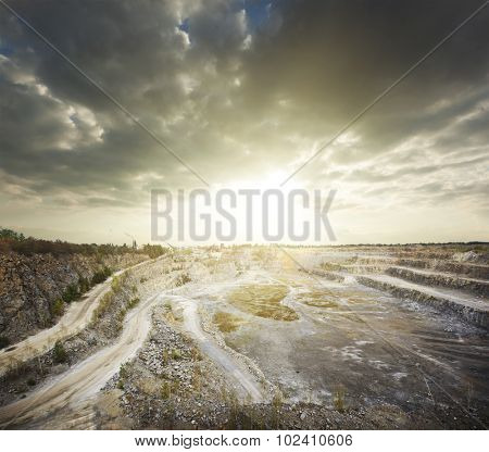 quarry at evening