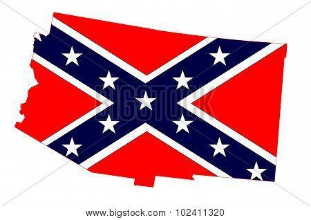 Arizona Map And Confederate Flag