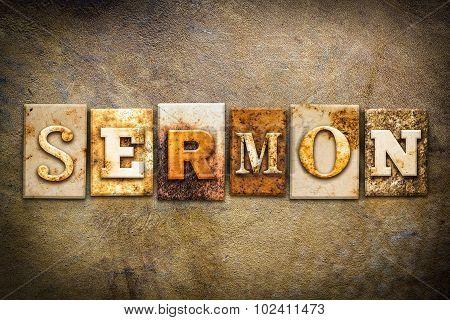 Sermon Concept Letterpress Leather Theme