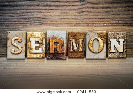 Sermon Concept Letterpress Theme