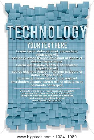 Design Concept. Abstract Technology Background