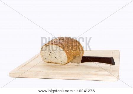 Bread Cutted By Knife
