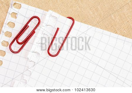 Paper With Red Paper Clip