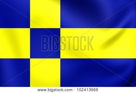 Flag Of Tilburg, Netherlands.