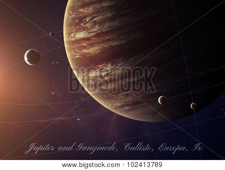 The Jupiter shot from space showing all they beauty. Extremely detailed image, including elements fu