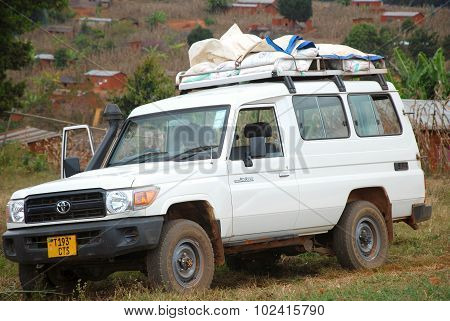 The Car Of The Ngo Mawaki Loaded Supplies And Food