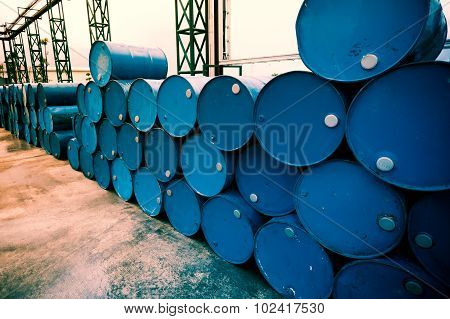 Industry Oil Barrels Or Chemical Drums