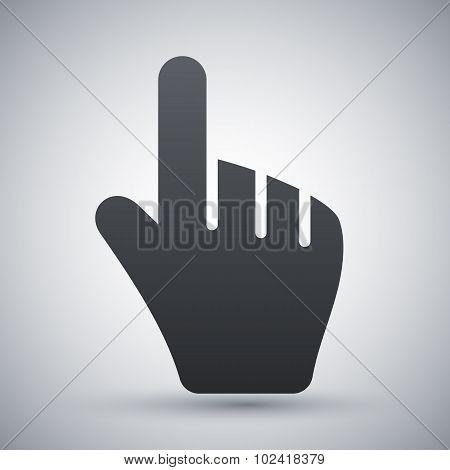 Hand Cursor, Stock Vector