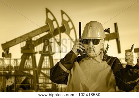 Industrial Worker. Oil And Gas.