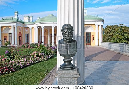 Tsarskoye Selo (Pushkin). Saint-Petersburg. Russia. Theocritus Sculpture