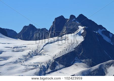 Glacier With Big Crevasses