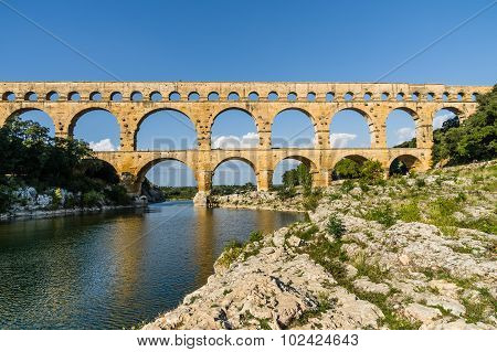 Pont Du Gard In Provence, France