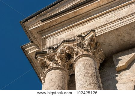 capitals of the columns