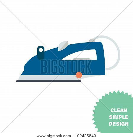 Isolated Steam Iron Icon