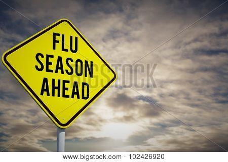 flu season ahead against cloudy sky