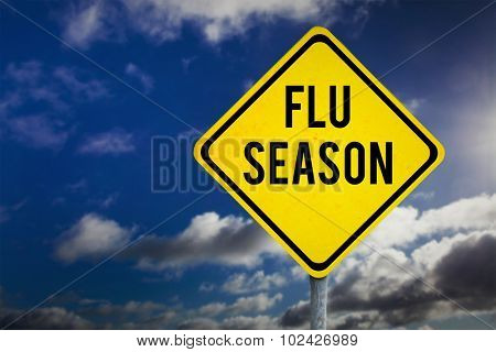 flu season against sky with clouds