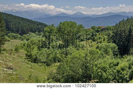 Mountain Plana and beautiful village Alino