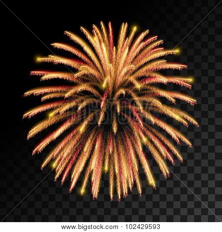 Sparkling fireworks explosions. Vector illustration