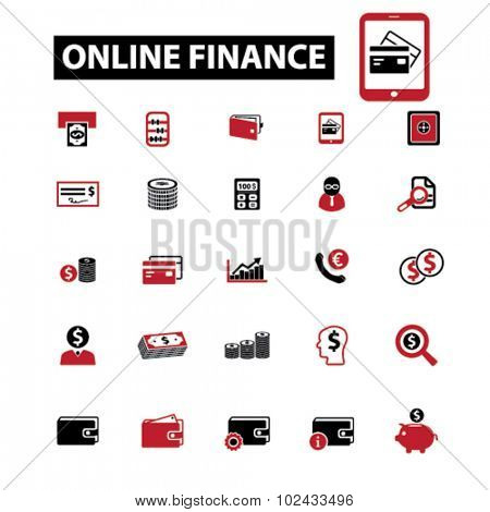 online finance icons