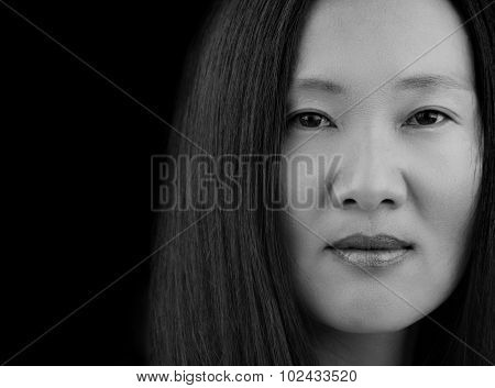 Asian Woman's Face
