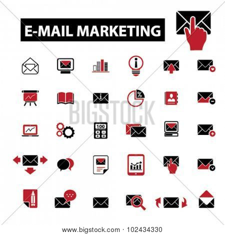 e-mail marketing, email system icons