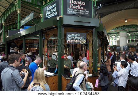 Street Food in Borough Market London