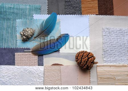 selection color for interior decorating