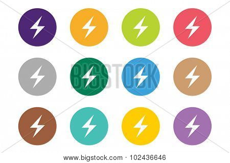 Attention warning sign icons set. Warning vector icons. Warning logo. Exclamation mark. Hazard warning symbol. Triangle warning symbols isolated on white background. Warning, attention, stop, electric