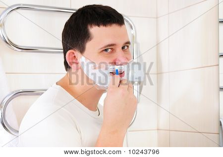 Young Man Shaving I