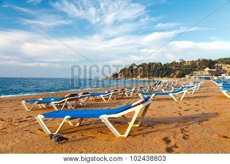 Beach of LLoret de Mar Costa Brava Spain.