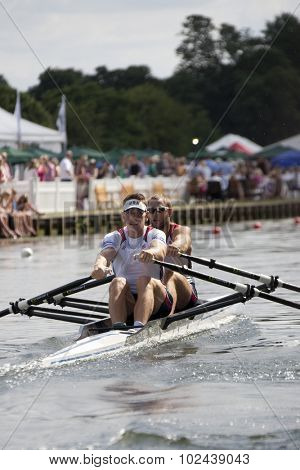 HENLEY, ENGLAND. 03-07-2010.  G.R. Ochal & W.R. Anderson, USA  in action on day 4 of the Henley Royal Regatta 2010 held on the River Thames.
