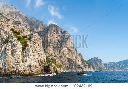 Coastal Landscape With Rocks Of Capri Island