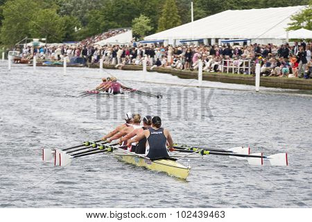 HENLEY, ENGLAND. 04-07-2010.  Gloucester R.C. & Leander Club (near) beat  Waiariki R.C., NZL to win The Princess Grace Challenge Cup on day 5 of the Henley Royal Regatta 2010 held on the River Thames.