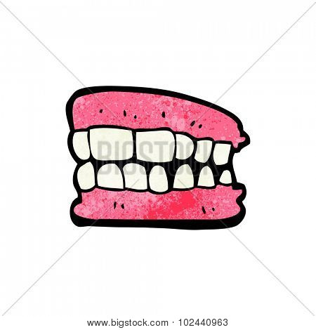 cartoon false teeth